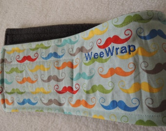 Puppy Dog Belly Band, Stop Marking with WeeWrap, Mustache, Personalized