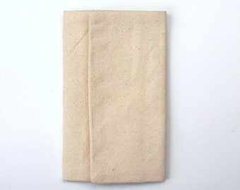simple tri-fold wallet handmade item number 300 beige
