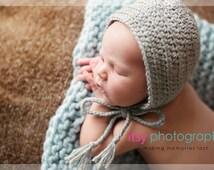Classic Bonnet,Plain Newborn Baby Bonnet,Essential Newborn Bonnet,Basic Newborn Simple Bonnet,Girl Boy Neutral Photography Prop,Newborn Hat