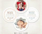 Mod Xmas Card and Ornaments- WHCC 5x5 Boutique or Regular Flat Card