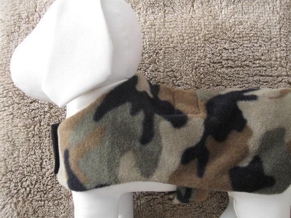 Camo Fleece Lined Dog Coat Costume for Smaller Dog