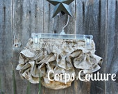 Camo Ruffled Butt Diaper Cover