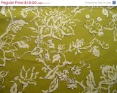 Closing Shop Home Decor Fabric Yardage - P. Kaufmann Spring Green and White Transitional Floral- 1 Yard