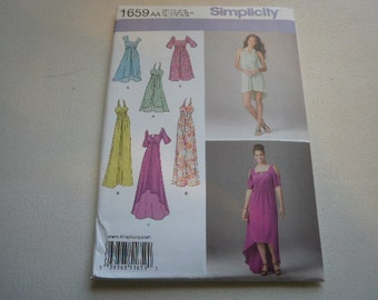 Pattern Ladies Dress 6 Styles Sizes 10 to 18 Simplicity 1659