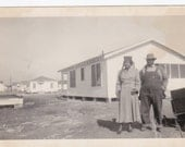 Mom and Pop - Vintage Photograph, Vernacular, Black and White  (CCC)