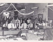 Vintage Photo - Group at the Office -Vintage Photograph, Vernacular, Found Photo  (ZZ)