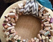 Large Hand Crafted Wine Cork Wreath - VeronicasClosetVCC