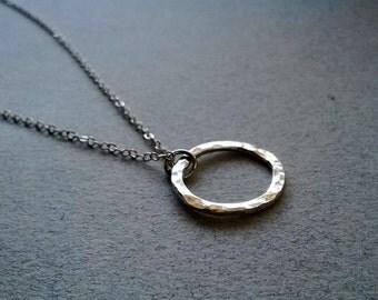Sterling Silver Karma Eternity Necklace