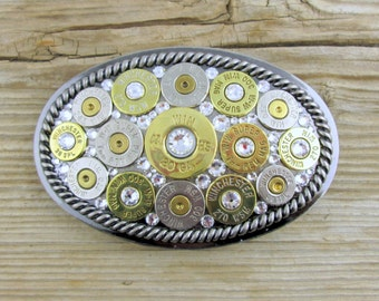 Bullet Belt Buckle / Oval Rope Border Bullet Belt Buckle WIN-20-DBNC-BELT / Belt Buckle / Oval Belt Buckle / Bullet Accessories / Belt