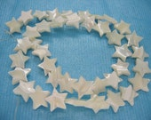 Beautiful White Mother of Pearl Star Beads 12mm