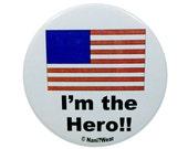 Hetalia Button - America (I'm the Hero)