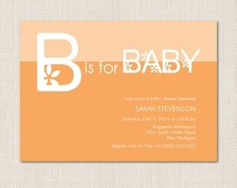 B is for BABY Shower Invitation - DEPOSIT