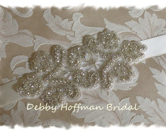 Rhinestone Crystal Bridal Headband, Rhinestone Wedding Headband, Crystal Bridal Headpiece, Wedding Hair Piece, Beaded Headband, No. 4020HB