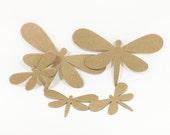 Dragonfly Die Cuts in Raw Chipboard