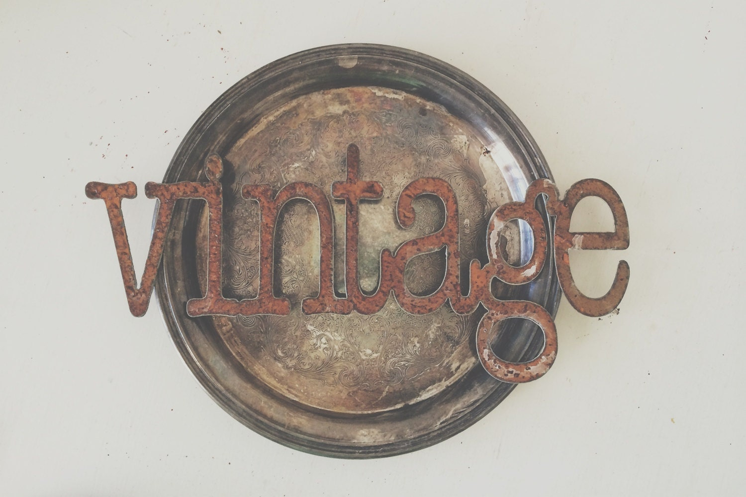 Rusty Metal Vintage Industrial Sign Wall Decor