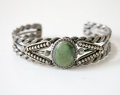 Green Turquoise Cuff Bracelet
