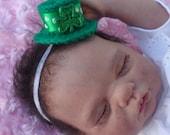 Baby headband, newborn headband, infant headband, mini hat, photo prop, unique, St Patricks day, novelty, JaminaRose original, headband