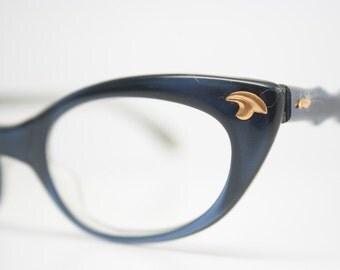 Blue cat eye eyeglasses  vintage cat eye glasses frames Cateye frames