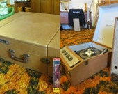 Vintage Westinghouse Suitcase 4-Speed Turntable, Amp & Detachable Speakers: Portable Hifi Component Audiophile Stereo, Model #56 ACS2