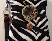 Faux-Fur-Zebra-Wristlet-Cell Phone-Quilted-Mini Pouch-Wallet-ID-Cigarette Case & More