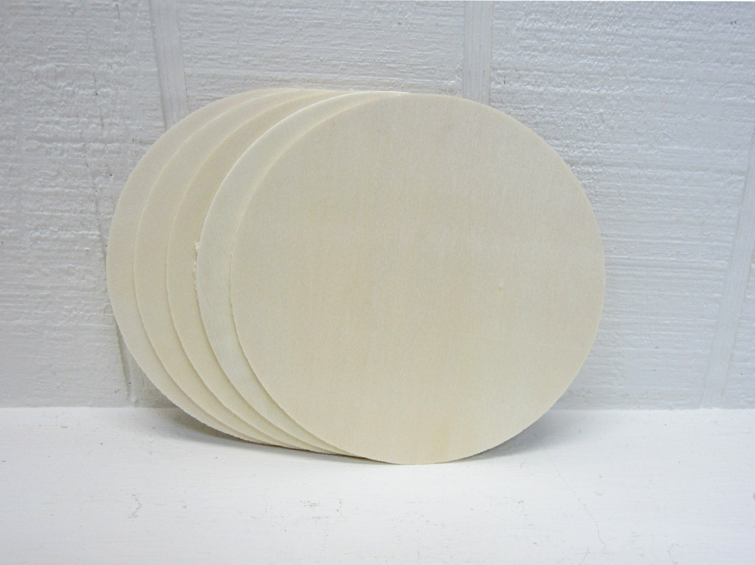 Wooden circles 4 inch unfinished for signs and craft projects for Wood circles for crafts