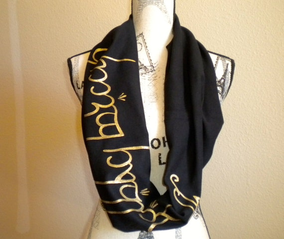 lord of the rings the hobbit infinity scarf elvish in gold and