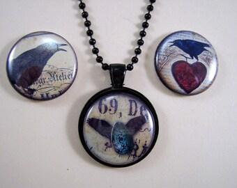 MAGNETIC Jewelry, Interchangable Pendant, 3 in 1 Noutecklace, Fun Halloween Gift