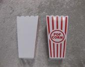 Movie Popcorn Container for Decoration Medium Red