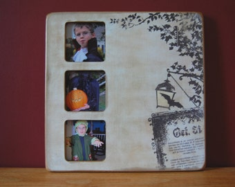 3 Photo Halloween Picture Frame