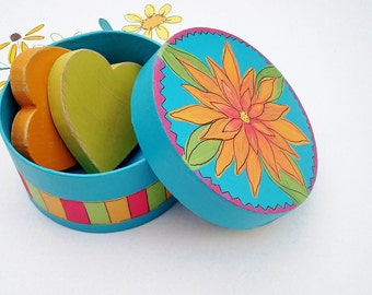 Hand Painted Gift Box for Small Treasures and Gifts