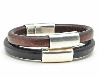 Smooth Sailing - handmade genuine leather bracelets - men's and women's jewelry to benefit JDRF type 1 diabetes research