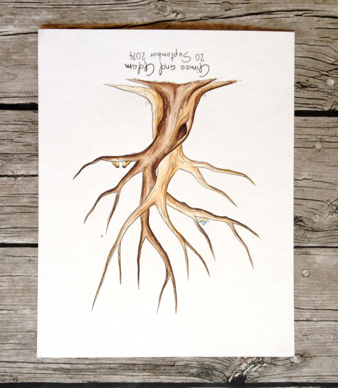 entwined trees baby shower guest book tree fingerprint tree