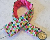 Stethoscope Cover - Nurse, Doctor- Honeycomb with Fuchsia Minky - MADE TO ORDER