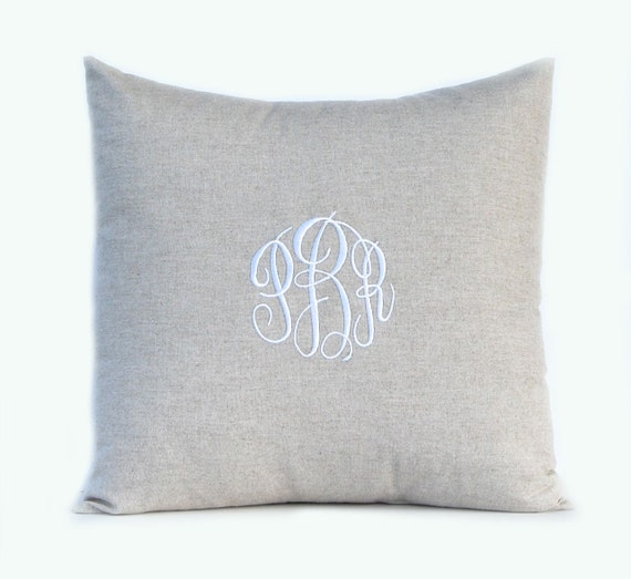 Monogram Pillow Throw Pillow Cover Decorative by CompanyTwentySix