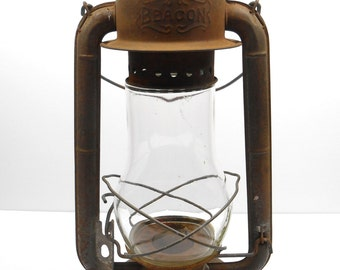 Vintage Railroad  Lantern Beacon GSW  Wind Proof Lantern Oil Kerosene Lamp