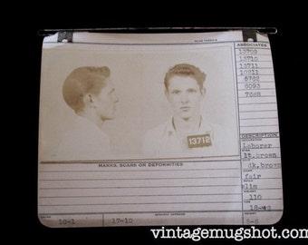 1942 MUG SHOT Allegheny County  Pa Police Criminal 18 Year Old Irish Man with Associates