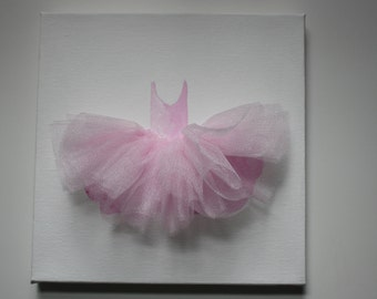 Ballerina Artwork    Tutu Painting with tulle