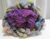 Handspun Art Yarn- Rustic Grapes & Poke Berry Royale