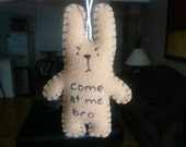 Funny Christmas ornaments, come at me bro, funny bunny or christmas tree decoration decor