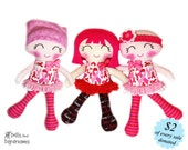 Breast Cancer Doll Sewing Pattern PDF - Wigs Hats Headbands Head Scarfs - Cuties for a Cure Fundraising for Cancer Research