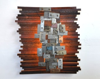 """STUDIO - """"Nelio"""" - Art and wall light, Limited Edition - 100% recycled Napa barrels"""