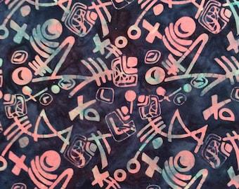 Blue Pink Batik Modern Design