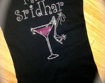 Personalized Bride To Be Shirt. Pink Martini Shoe Shirt. Bridesmaid. Black. Bridesmaid Rhinestone Shirt. Tank Top. Long Sleeve Bride Shirt.