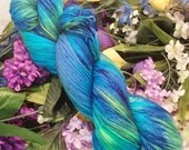 "Hand Dyed Sock Yarn ""Mermaid's Treasure"""