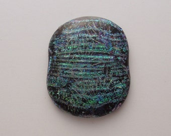 Dichroic Fused Glass Cabochon - Gem Stone - Cabochon Cab - Bead Supply- Glass Bead - Wire Wrapping - Jewelry Making - Stained Glass 4620