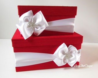 Wedding Card Box Money Holder Winter Wedding Card Box - Custom Made to Order