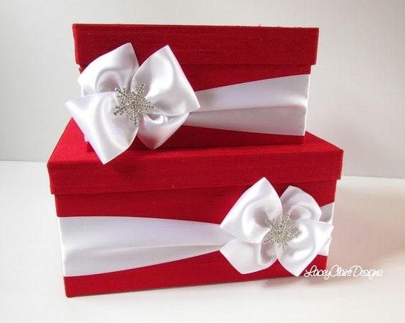 Winter Wedding Gift Card Box : Wedding Card Box Money Holder Winter Wedding Card Box - Custom Made to ...