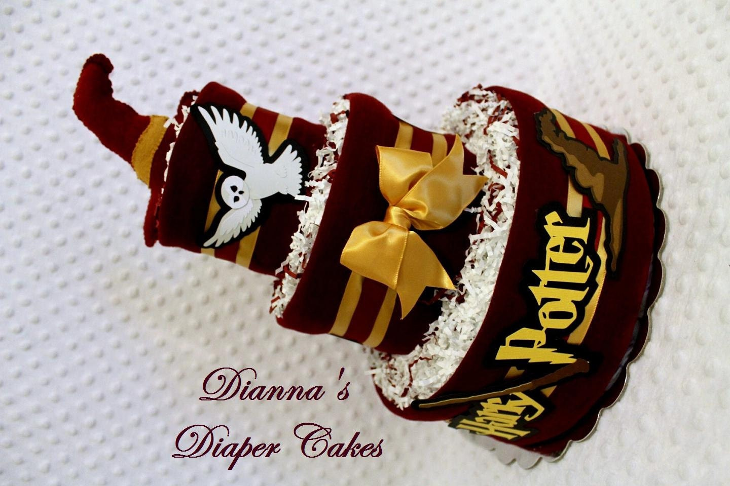 harry potter baby diaper cake choose color shower gift or