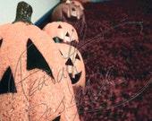 Jack o' lantern photo vintage halloween art print