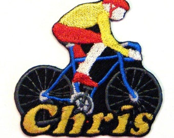 Iron on Patch Bicycling Name Personalized Free